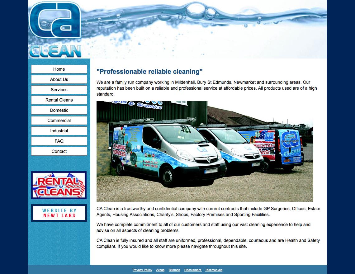 cleaning website screenshot