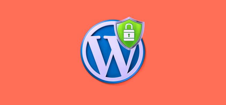 WordPress logo with security shield