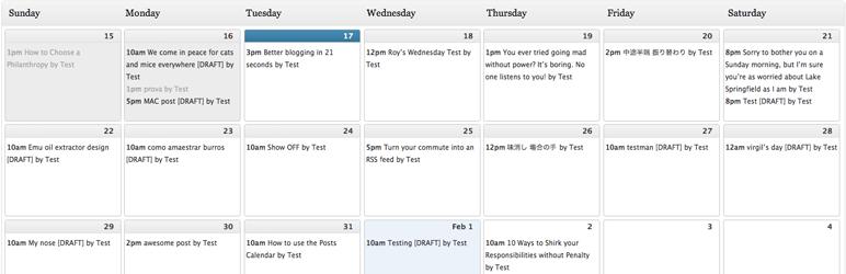 edtorial calendar