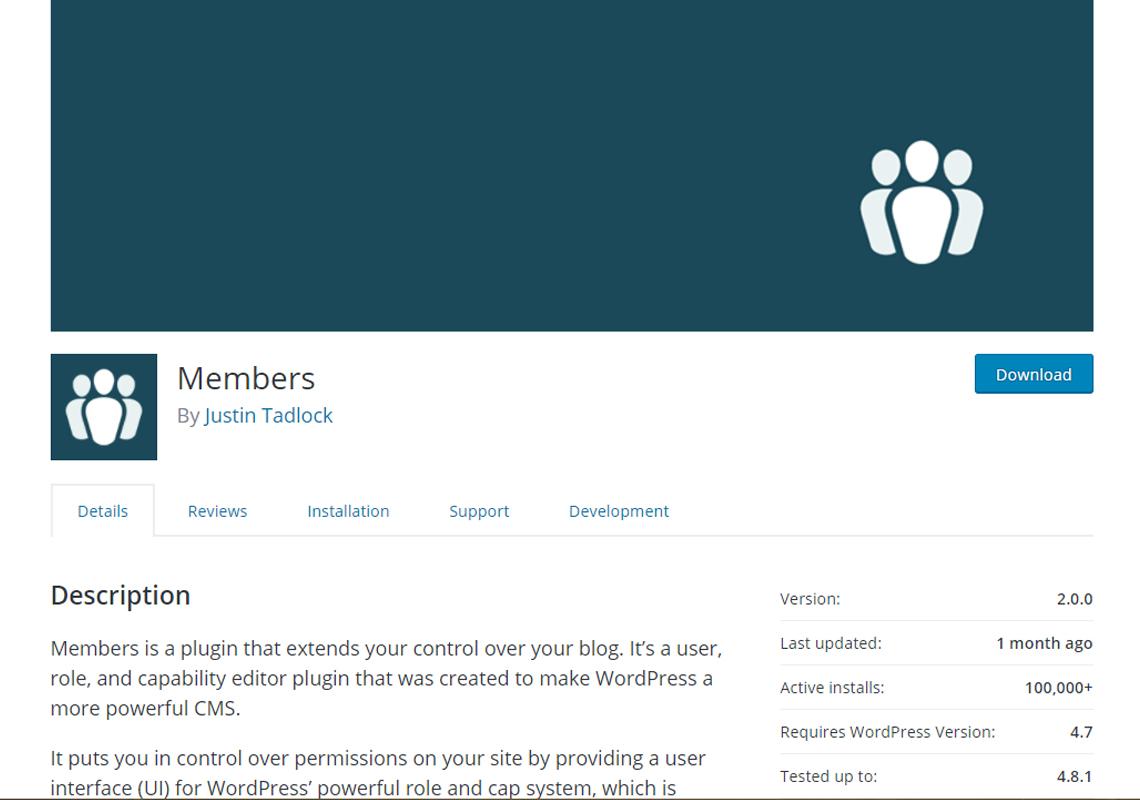 members details plugin
