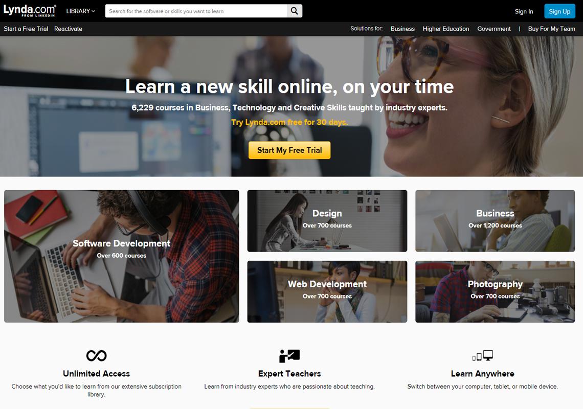 lynda website
