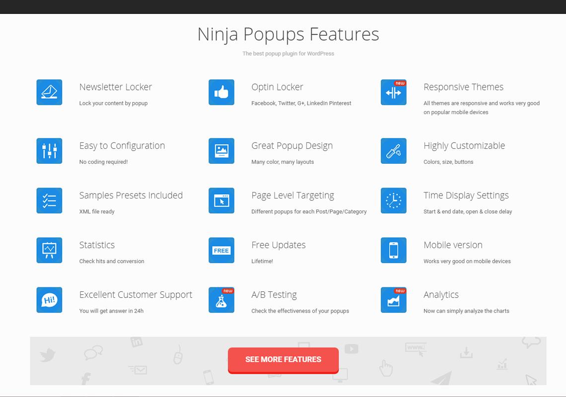 ninja popup plugin