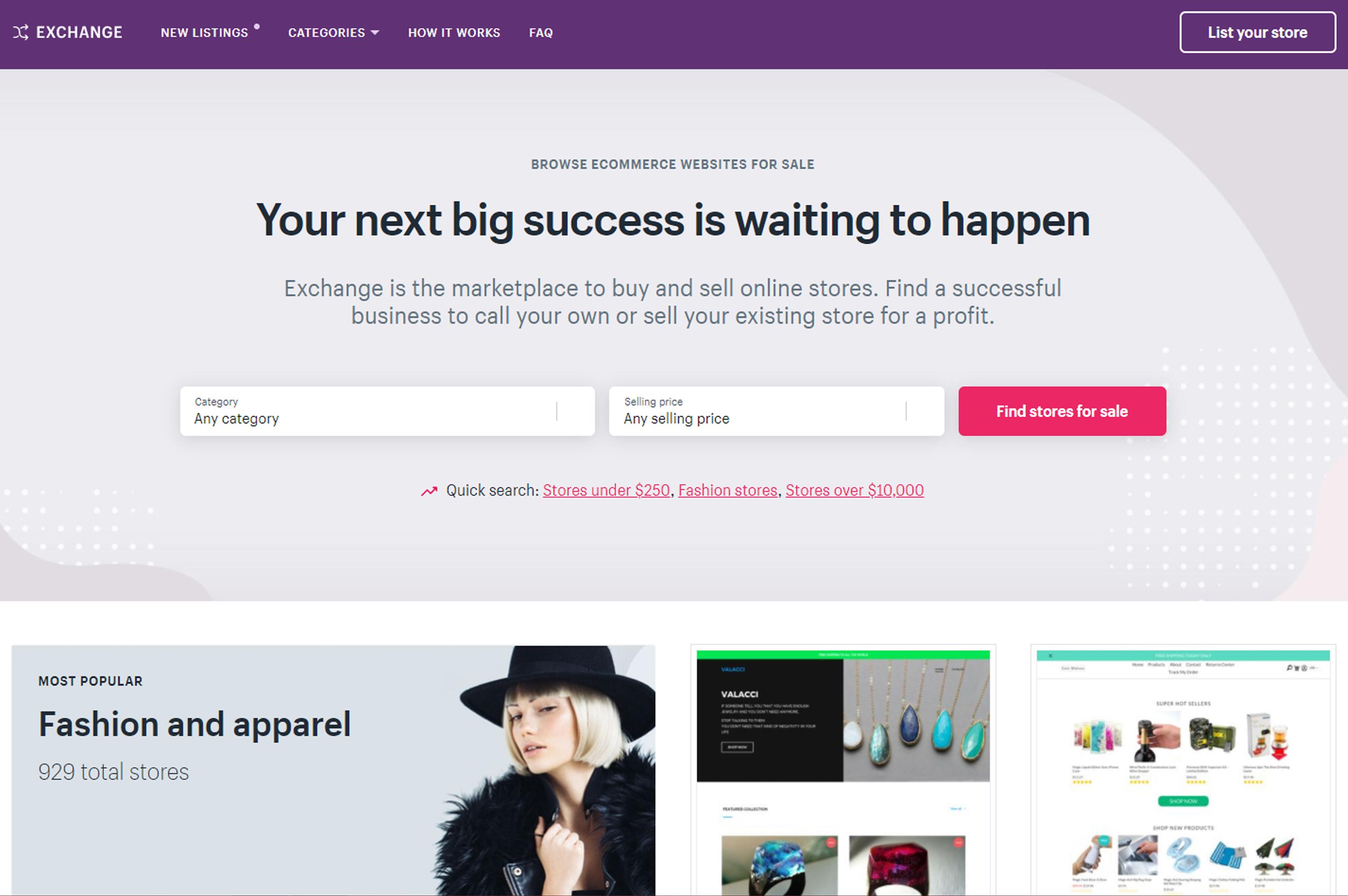 exchange website