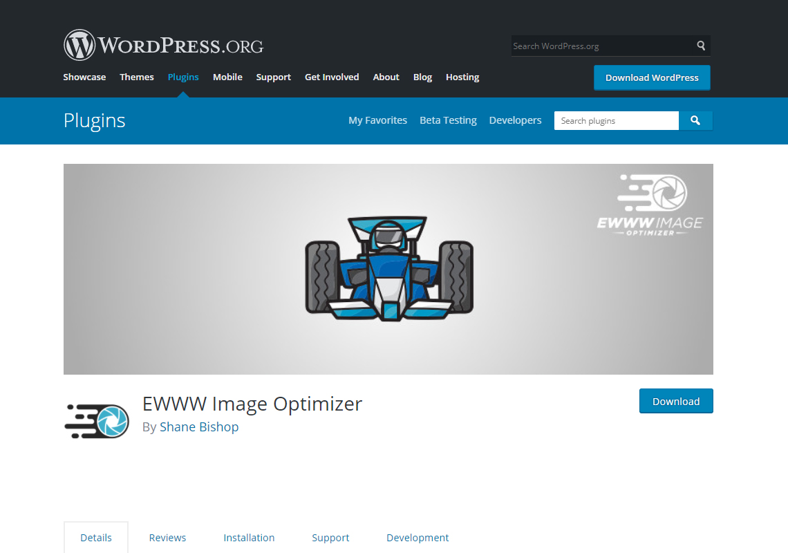 ewww image optimiser wordpress plugin