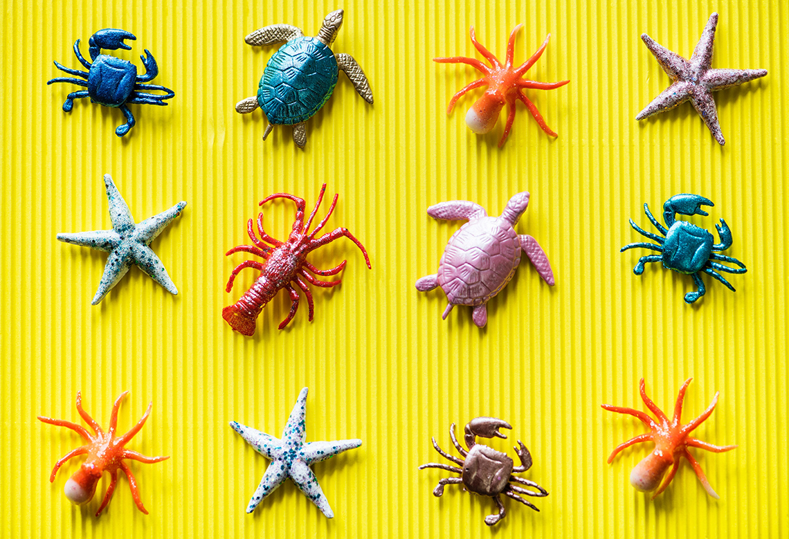 collection of sealife toys