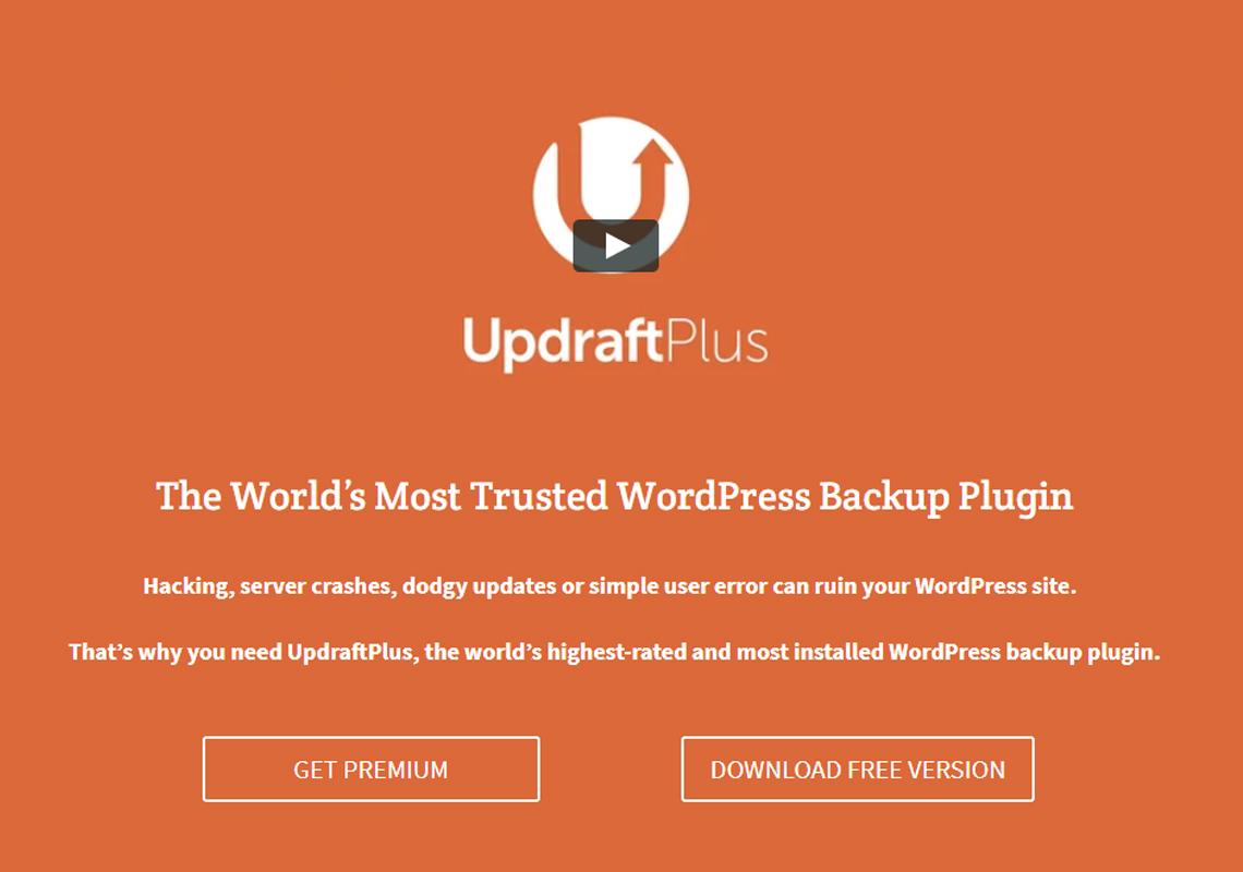 updraft plus wordpress backup plugin