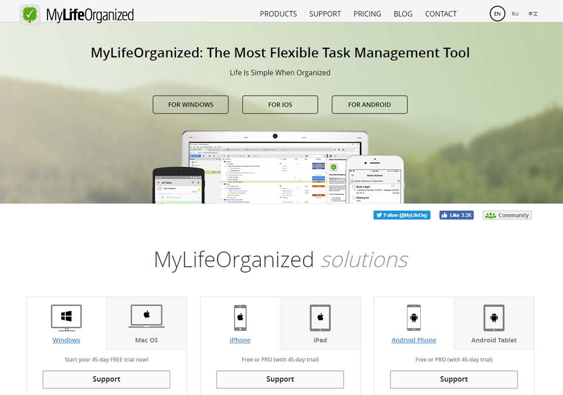 my life organised website