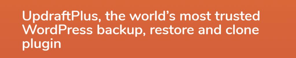UpdraftPlus for your wordpress backup
