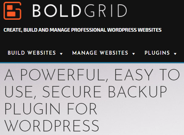 BoldGrid Backup for WordPress