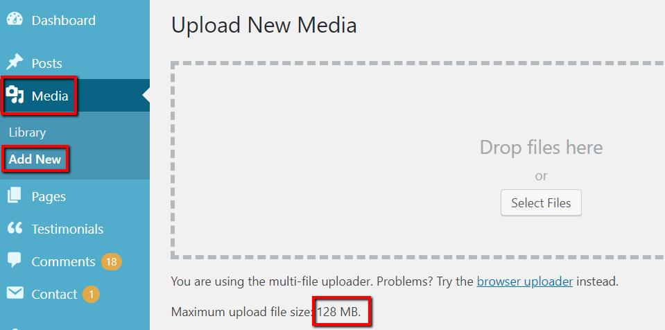 Add New Media in WordPress