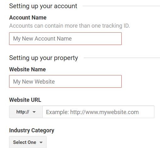 google analytics setting up your account