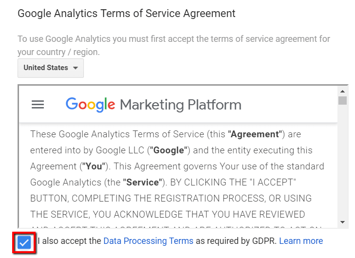 Data Processing Terms
