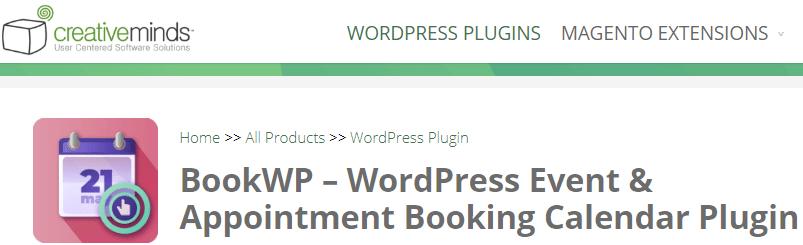 Creative Minds - wordpress plugins booking