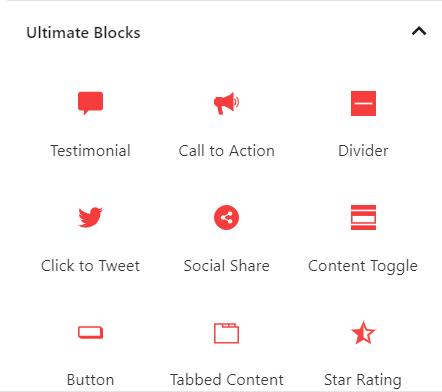 Ultimate Blocks Block Types