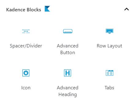 Kadence Block Types
