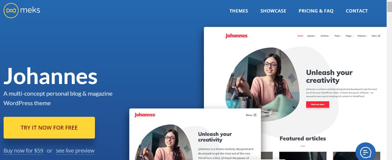 Johannes - WordPress Gutenberg Themes